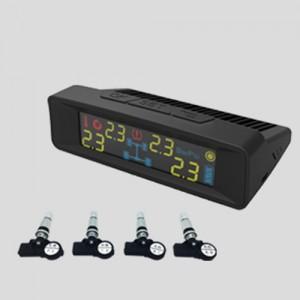 胎牛SF681S太陽能充電彩色LCD乘用車內置式胎壓監測