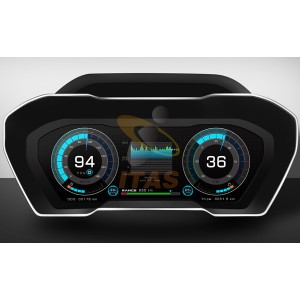 華一汽車科技全液晶儀表三種模式三種炫酷體驗