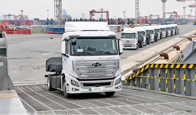 現代汽車全球首款氫燃料電池重卡運往瑞士,積極布局歐洲市場
