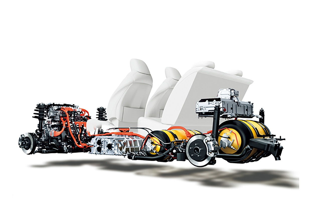 豐田第一代Mirai氫燃料電池結構