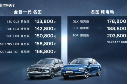"""时隔七年终换代!现代全新一代名图上市 13万就能买合资""""B级车"""""""