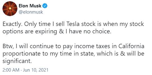 马斯克回应漏税指控:不从特斯拉领工资 按规定交税中