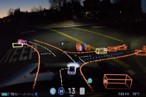 """特斯拉將發布帶有""""汽車思維""""視圖的全新UI 用于配備FSD計算機的汽車"""