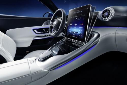 又在內飾玩花,奔馳為SL AMG推出可調角度中控屏